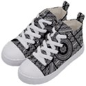 Wavy Panels Kid s Mid-Top Canvas Sneakers View2