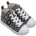 Wavy Panels Kid s Mid-Top Canvas Sneakers View3