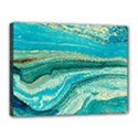 Mint,gold,marble,nature,stone,pattern,modern,chic,elegant,beautiful,trendy Canvas 16  x 12  View1