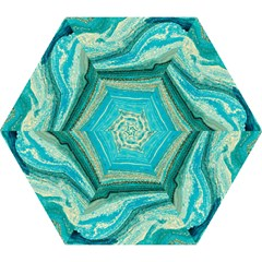 Mint,gold,marble,nature,stone,pattern,modern,chic,elegant,beautiful,trendy Mini Folding Umbrellas
