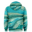Mint,gold,marble,nature,stone,pattern,modern,chic,elegant,beautiful,trendy Men s Pullover Hoodie View2