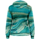 Mint,gold,marble,nature,stone,pattern,modern,chic,elegant,beautiful,trendy Women s Pullover Hoodie View2