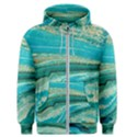 Mint,gold,marble,nature,stone,pattern,modern,chic,elegant,beautiful,trendy Men s Zipper Hoodie View1
