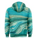 Mint,gold,marble,nature,stone,pattern,modern,chic,elegant,beautiful,trendy Men s Zipper Hoodie View2