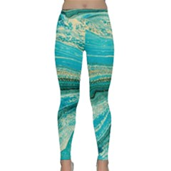 Mint,gold,marble,nature,stone,pattern,modern,chic,elegant,beautiful,trendy Classic Yoga Leggings