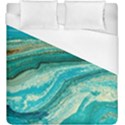 Mint,gold,marble,nature,stone,pattern,modern,chic,elegant,beautiful,trendy Duvet Cover (King Size) View1