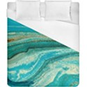 Mint,gold,marble,nature,stone,pattern,modern,chic,elegant,beautiful,trendy Duvet Cover (California King Size) View1