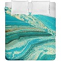Mint,gold,marble,nature,stone,pattern,modern,chic,elegant,beautiful,trendy Duvet Cover Double Side (California King Size) View1