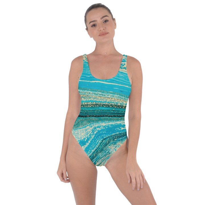 Mint,gold,marble,nature,stone,pattern,modern,chic,elegant,beautiful,trendy Bring Sexy Back Swimsuit