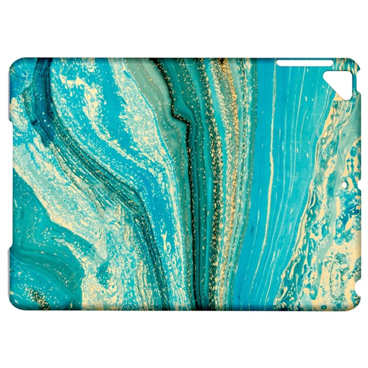 Mint,gold,marble,nature,stone,pattern,modern,chic,elegant,beautiful,trendy Apple iPad Pro 9.7   Hardshell Case