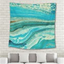 Mint,gold,marble,nature,stone,pattern,modern,chic,elegant,beautiful,trendy Square Tapestry (Large) View2