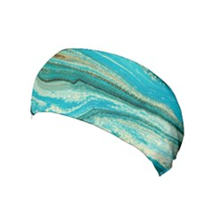 Mint,gold,marble,nature,stone,pattern,modern,chic,elegant,beautiful,trendy Yoga Headband