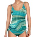 Mint,gold,marble,nature,stone,pattern,modern,chic,elegant,beautiful,trendy Tankini Set View1