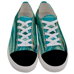 Mint,gold,marble,nature,stone,pattern,modern,chic,elegant,beautiful,trendy Women s Low Top Canvas Sneakers