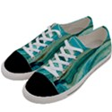 Mint,gold,marble,nature,stone,pattern,modern,chic,elegant,beautiful,trendy Women s Low Top Canvas Sneakers View2