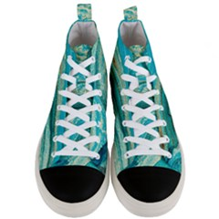 Mint,gold,marble,nature,stone,pattern,modern,chic,elegant,beautiful,trendy Men s Mid Top Canvas Sneakers