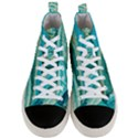 Mint,gold,marble,nature,stone,pattern,modern,chic,elegant,beautiful,trendy Men s Mid-Top Canvas Sneakers View1