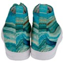 Mint,gold,marble,nature,stone,pattern,modern,chic,elegant,beautiful,trendy Women s Mid-Top Canvas Sneakers View4