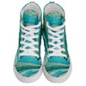 Mint,gold,marble,nature,stone,pattern,modern,chic,elegant,beautiful,trendy Men s Hi-Top Skate Sneakers View1