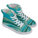 Mint,gold,marble,nature,stone,pattern,modern,chic,elegant,beautiful,trendy Men s Hi-Top Skate Sneakers View3