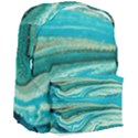 Mint,gold,marble,nature,stone,pattern,modern,chic,elegant,beautiful,trendy Giant Full Print Backpack View3