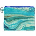 Mint,gold,marble,nature,stone,pattern,modern,chic,elegant,beautiful,trendy Canvas Cosmetic Bag (XXL) View1