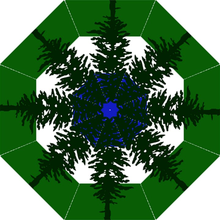 Flag of Cascadia Straight Umbrellas