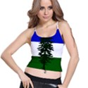 Flag of Cascadia Spaghetti Strap Bra Top View1