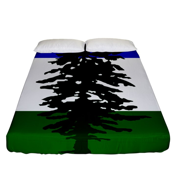 Flag of Cascadia Fitted Sheet (Queen Size)