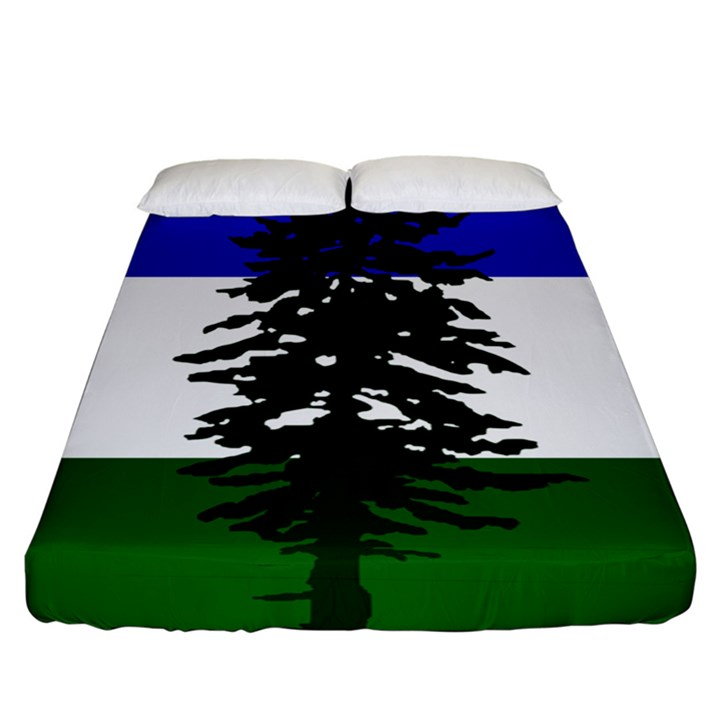 Flag of Cascadia Fitted Sheet (California King Size)
