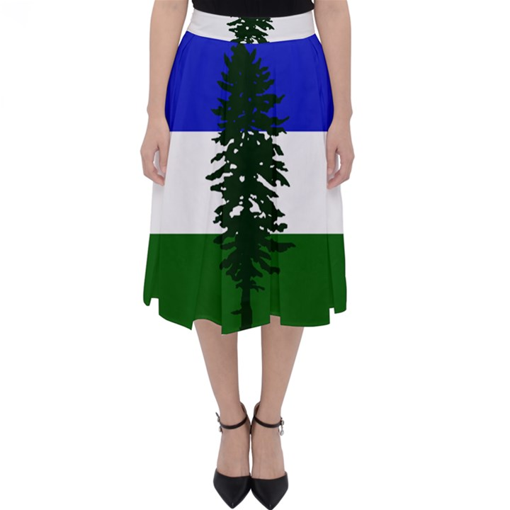 Flag of Cascadia Folding Skater Skirt
