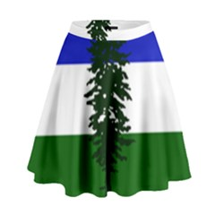 Flag Of Cascadia High Waist Skirt