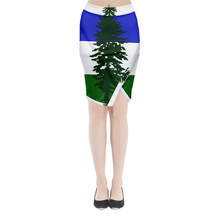 Flag of Cascadia Midi Wrap Pencil Skirt