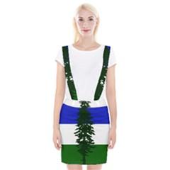 Flag Of Cascadia Braces Suspender Skirt