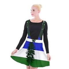 Flag Of Cascadia Suspender Skater Skirt