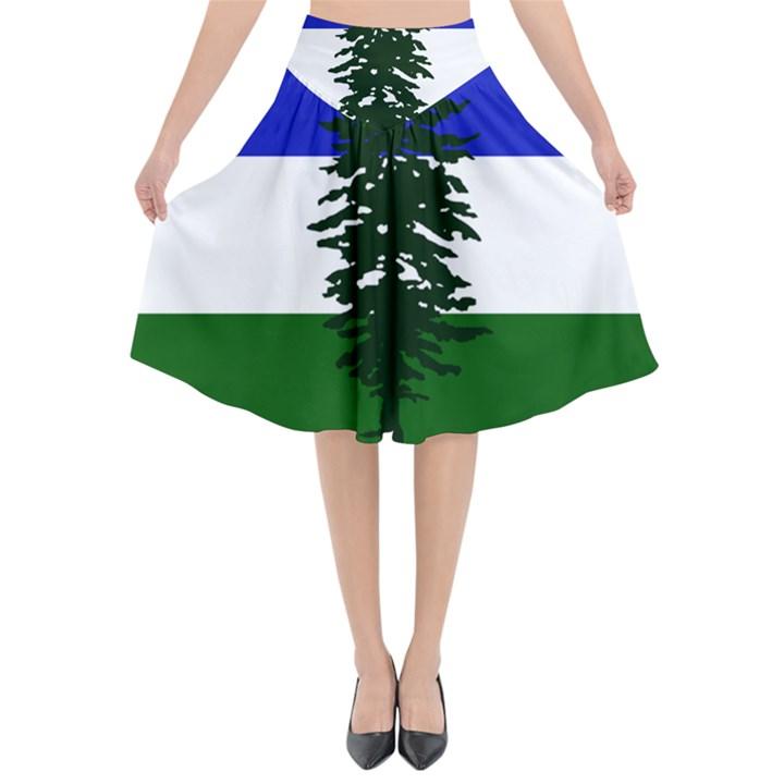 Flag of Cascadia Flared Midi Skirt