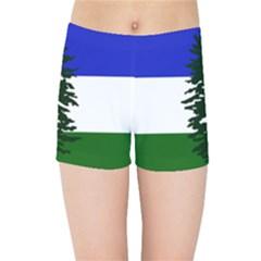 Flag Of Cascadia Kids Sports Shorts