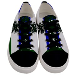 Flag Of Cascadia Men s Low Top Canvas Sneakers