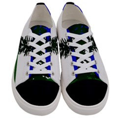 Flag Of Cascadia Women s Low Top Canvas Sneakers
