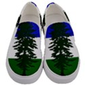 Flag of Cascadia Men s Canvas Slip Ons View1