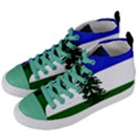 Flag of Cascadia Women s Mid-Top Canvas Sneakers View2