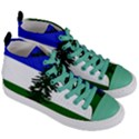 Flag of Cascadia Women s Mid-Top Canvas Sneakers View3