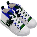Flag of Cascadia Kid s Mid-Top Canvas Sneakers View3