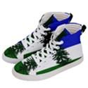 Flag of Cascadia Men s Hi-Top Skate Sneakers View2
