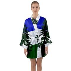 Flag Of Cascadia Long Sleeve Kimono Robe