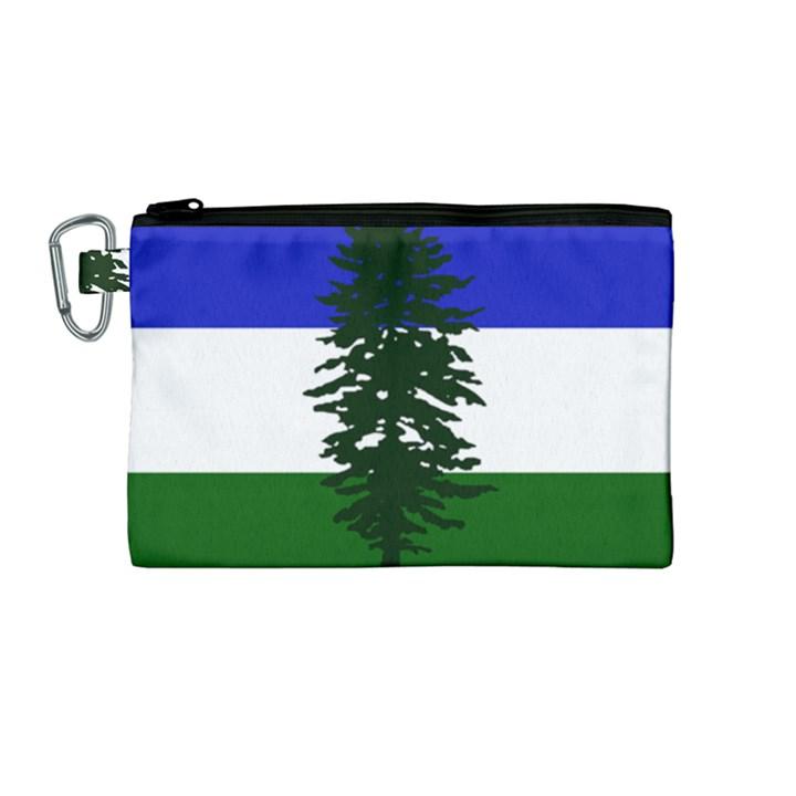 Flag of Cascadia Canvas Cosmetic Bag (Medium)