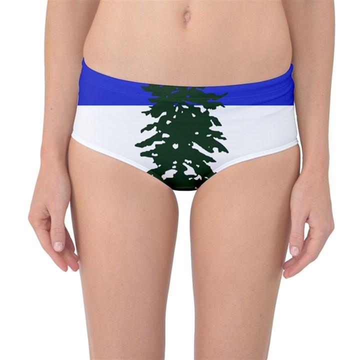 Flag of Cascadia Mid-Waist Bikini Bottoms