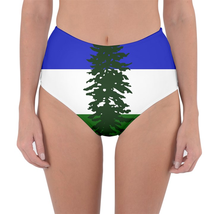 Flag of Cascadia Reversible High-Waist Bikini Bottoms
