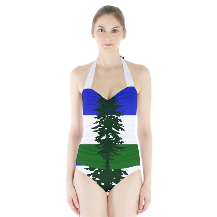 Flag of Cascadia Halter Swimsuit