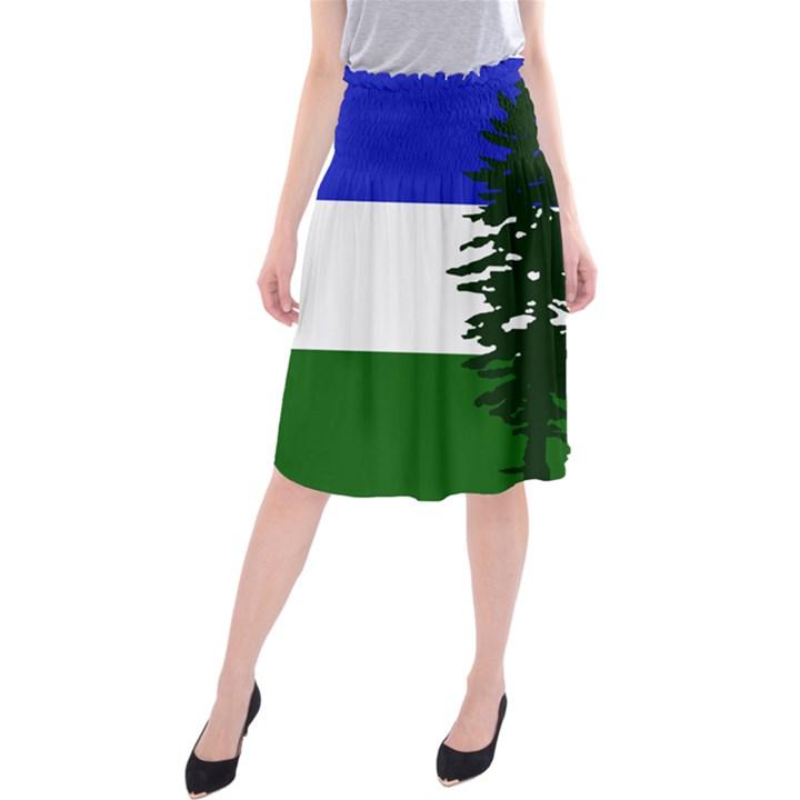 Flag of Cascadia Midi Beach Skirt
